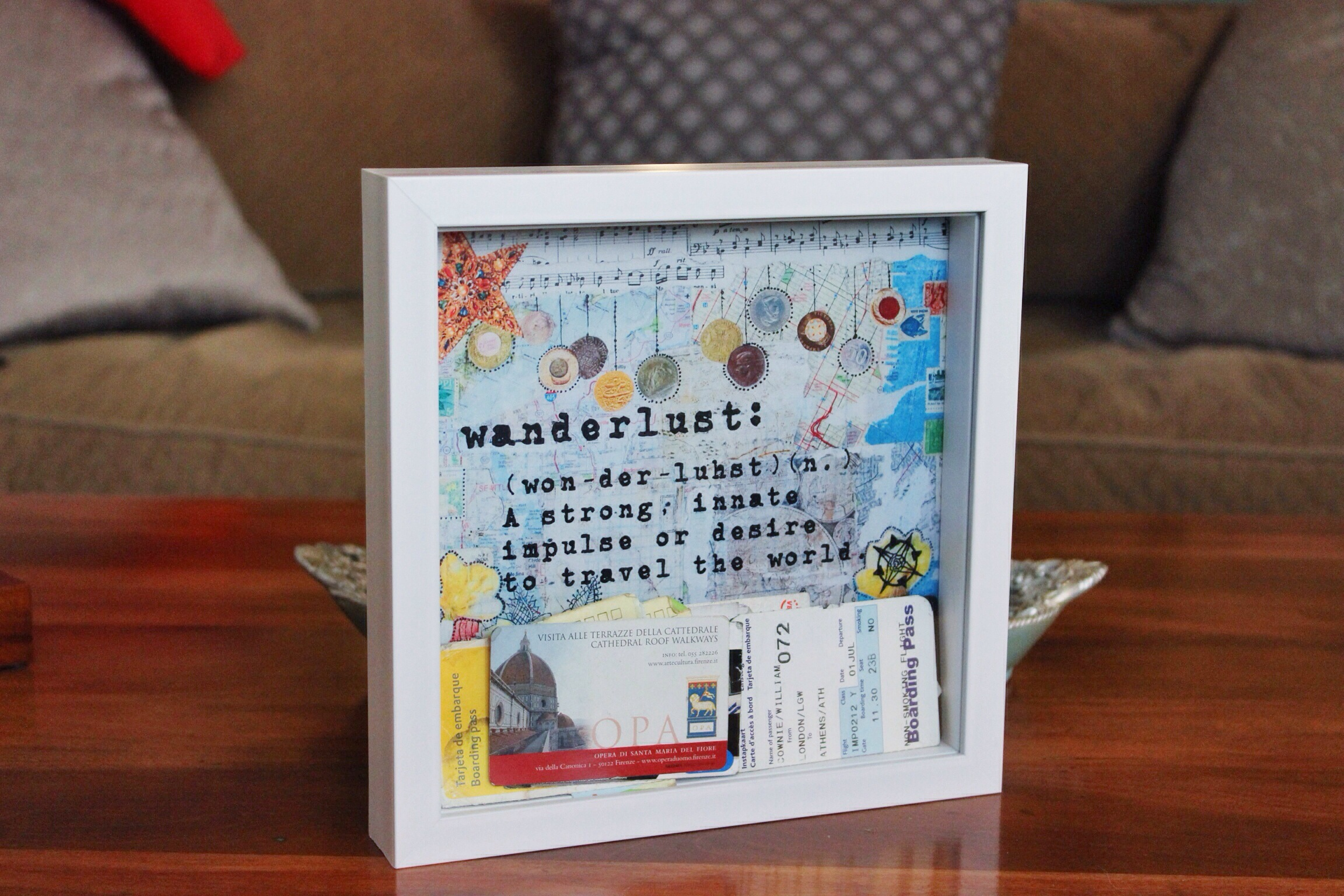 Shadow Box Frame: Wanderlust – The Craft Gab