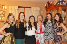 Downstairs girls with Grandma